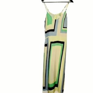 Maeve Anthro Abstract Pastel Flowy Maxi Dr…